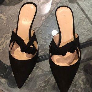 JCrew black kitten heels